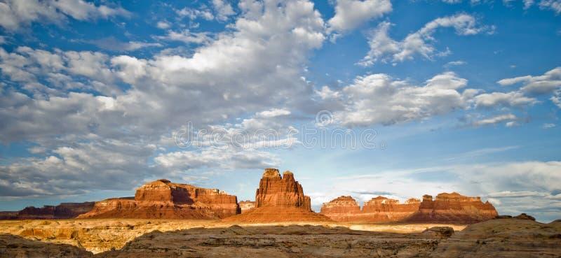 Пейзаж обочины в Юте на северном конце каньона Глена стоковые фотографии rf