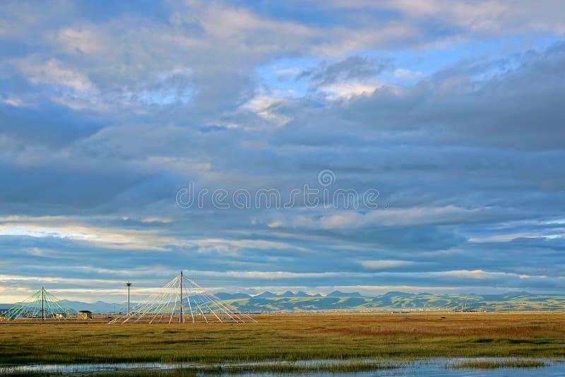 Пейзаж озера Цинха стоковое фото rf