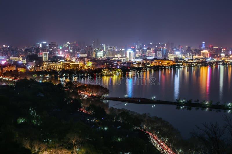 пейзаж озера hangzhou западный стоковая фотография