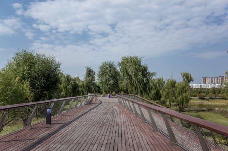 Пейзаж озера Wen Ying стоковые фото