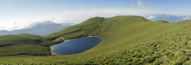 пейзаж панорамы озера стоковое изображение rf