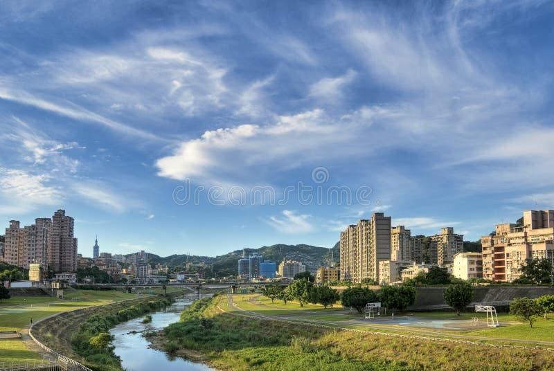 пейзаж парка города стоковое изображение rf