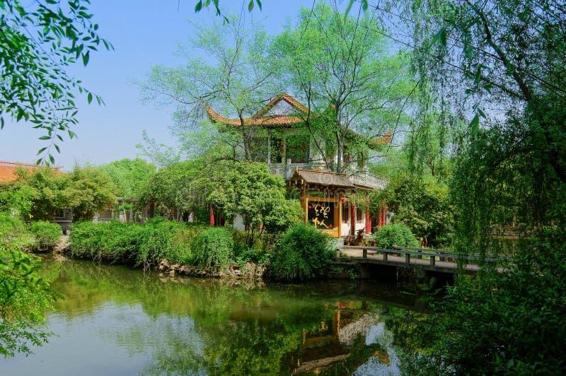 Пейзаж парка зеленого холма стоковое фото