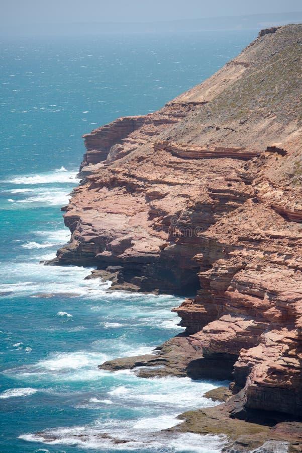 Пейзаж побережья скалы Kalbarri стоковые изображения rf