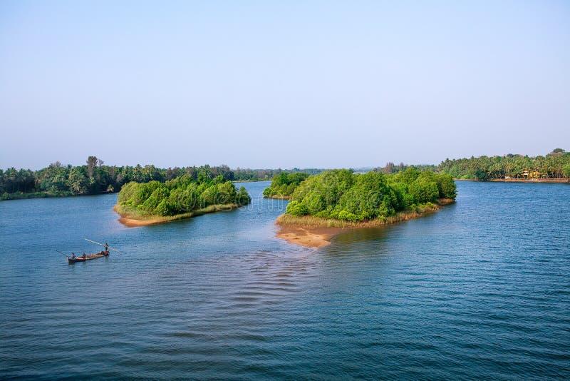 Пейзаж подпора от Кералы стоковое изображение rf