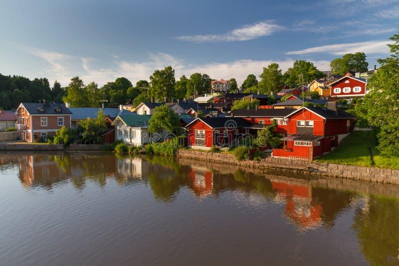 Пейзаж реки Porvoo стоковые изображения rf