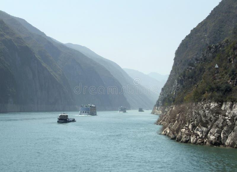 Пейзаж реки Yangtze стоковое изображение