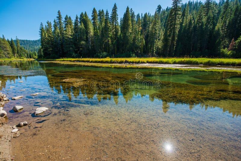 Пейзаж Рекы Truckee стоковое изображение