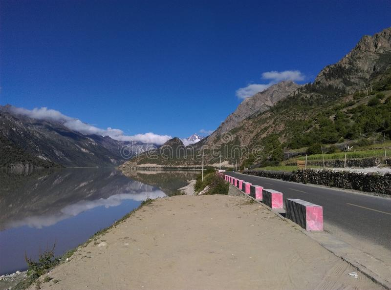 Пейзаж Тибета стоковые фото
