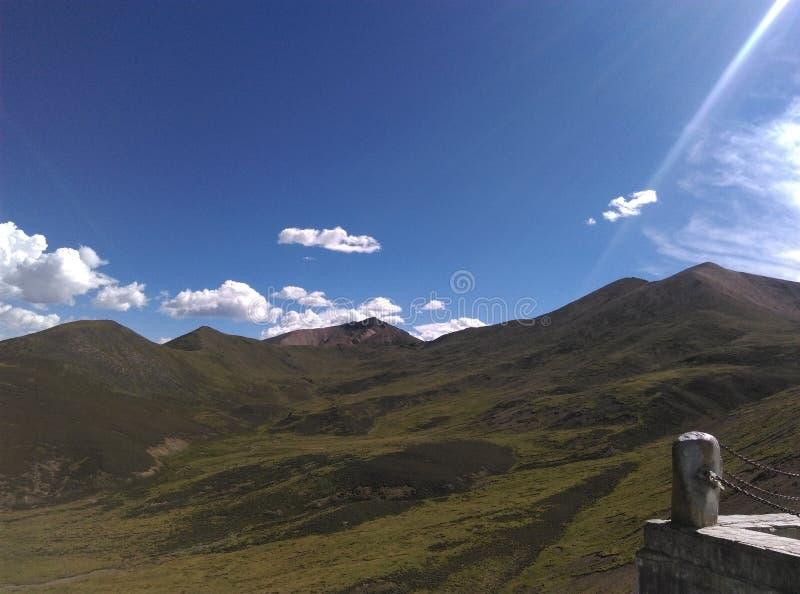 Пейзаж Тибета стоковая фотография rf