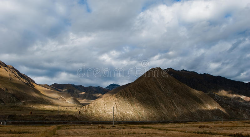 пейзаж Тибет стоковое фото rf