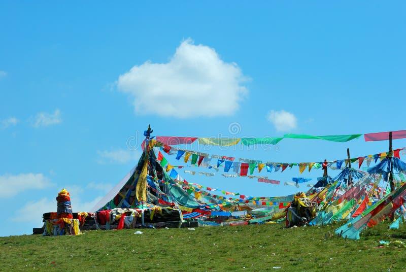 пейзаж Тибет стоковые фотографии rf