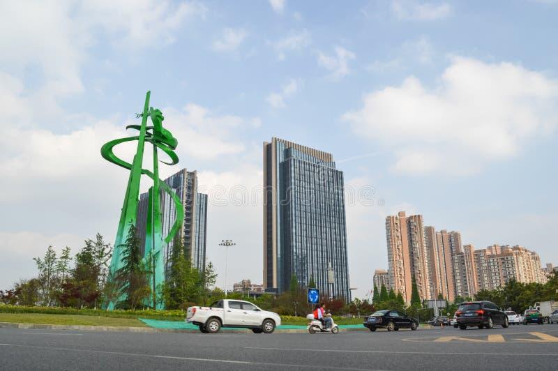 Пейзаж 4 улицы города Guiyang стоковая фотография rf