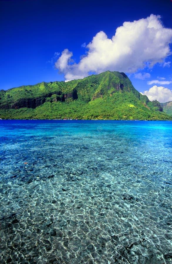 Пейзаж Французской Полинезии тропический стоковые изображения