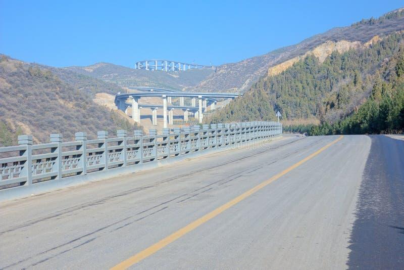 Пейзаж шоссе горы стоковое изображение