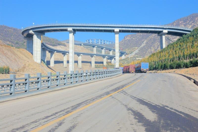 Пейзаж шоссе горы стоковое фото rf