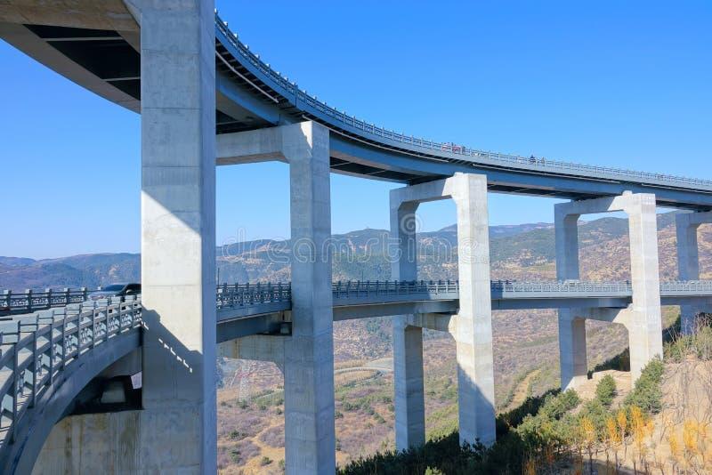 Пейзаж шоссе горы стоковая фотография