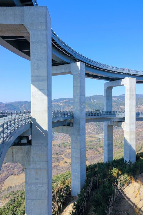 Пейзаж шоссе горы стоковые изображения rf