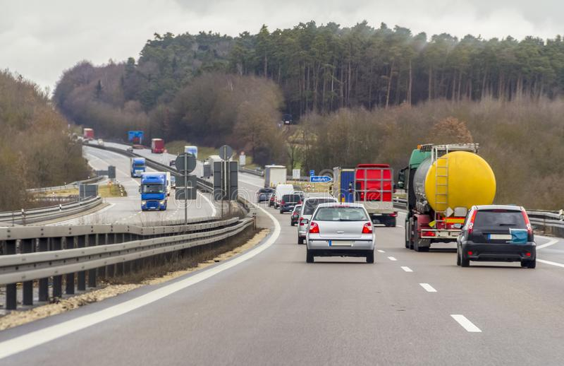 Пейзаж шоссе стоковое изображение