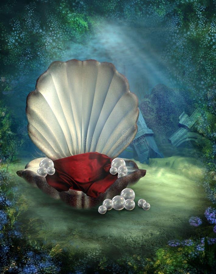 пейзаж 2 подводный иллюстрация штока