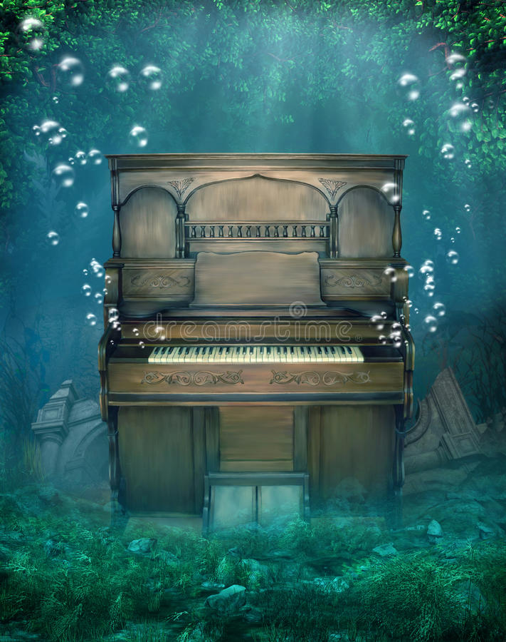 пейзаж 5 подводный иллюстрация штока