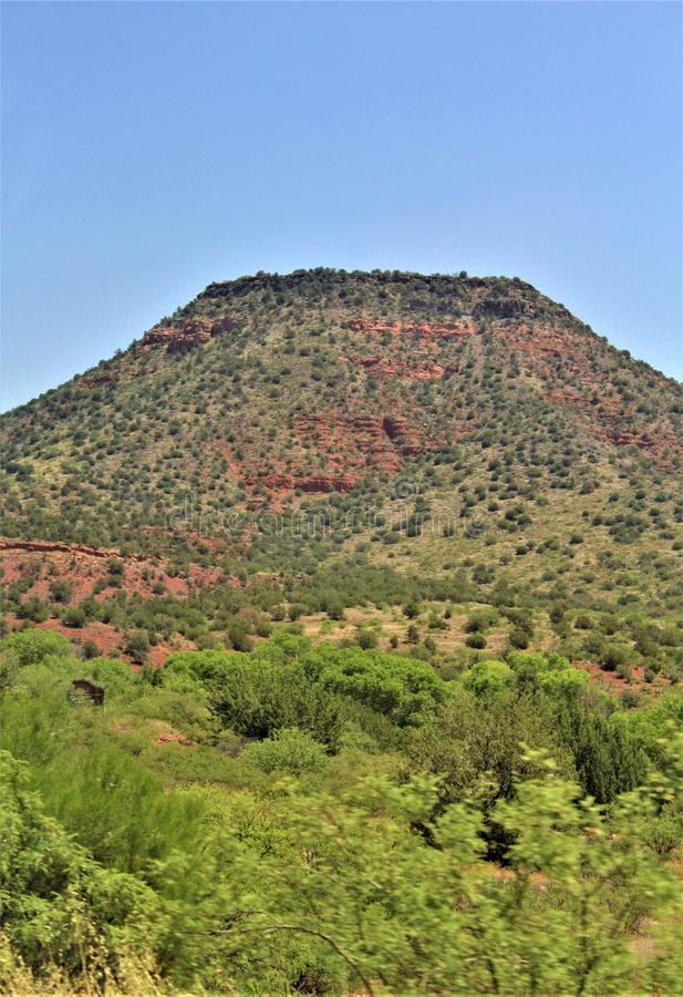 Пейзаж Maricopa County ландшафта, Sedona, Аризона, Соединенные Штаты стоковые изображения