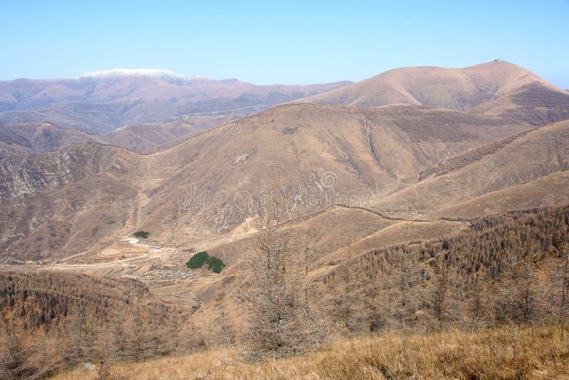пейзаж mt wutaishan стоковые изображения rf