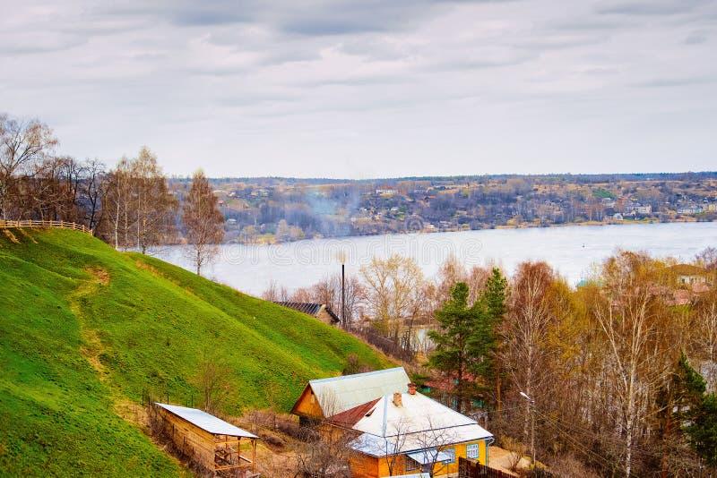 Пейзаж Plyos в области России Иванова стоковое изображение rf