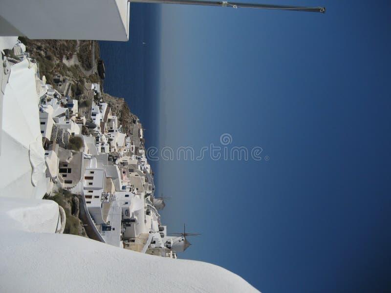 Пейзаж Santorini стоковые изображения