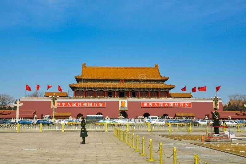 Пекин квадратный tiananmen стоковые фотографии rf