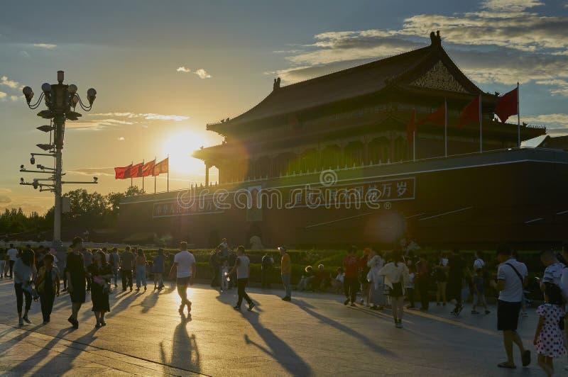 Пекин, Китай - июнь 2019: Запретный город, площадь Тиананмен стоковые изображения rf