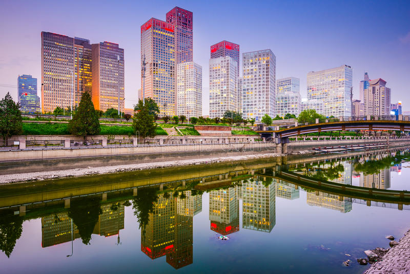 Пекин, Китай CBD стоковое фото