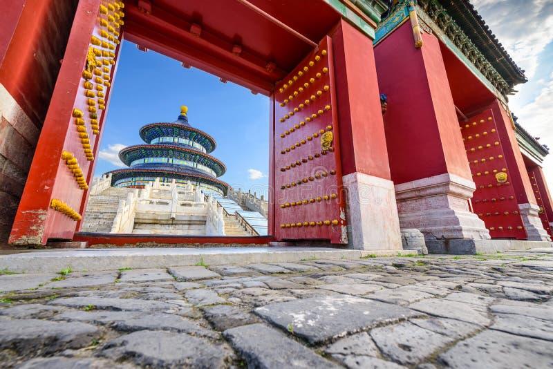 Пекин на Temple of Heaven стоковые фотографии rf