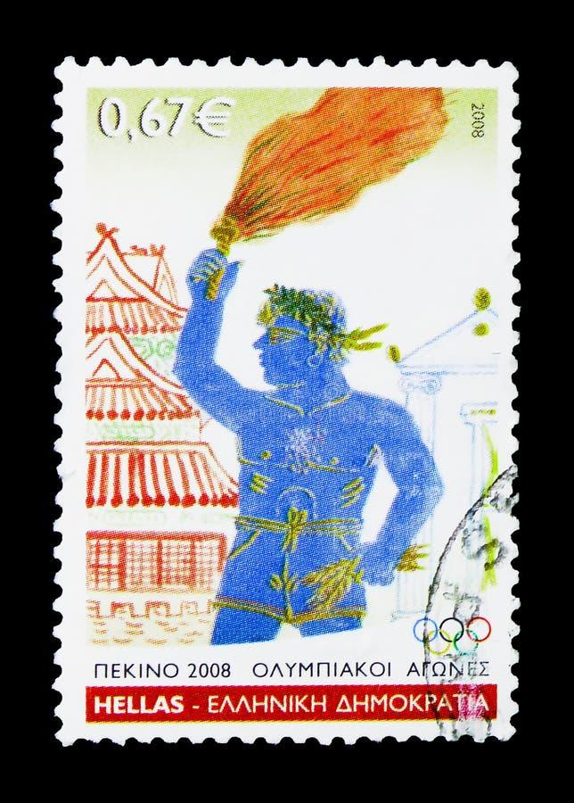 Пекин 2008 - Torch податель, serie Олимпийских Игр, около 2008 стоковые фотографии rf