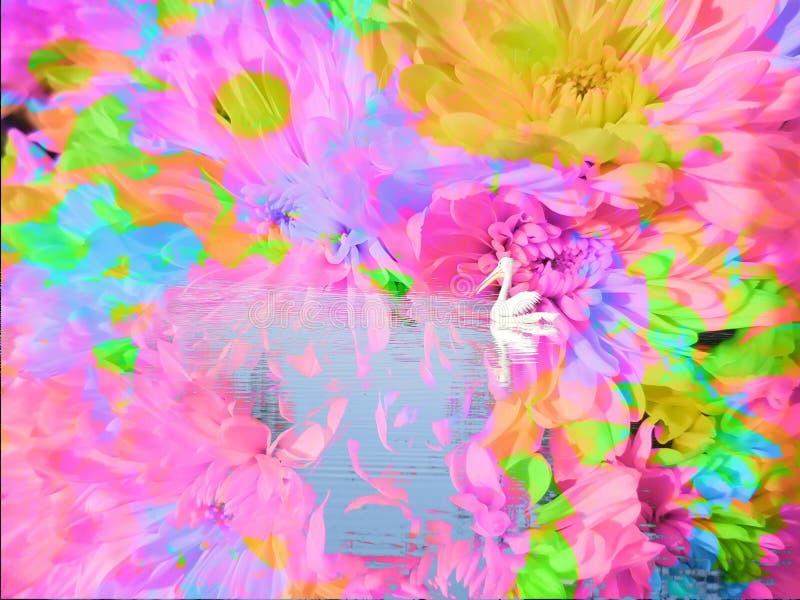Пеликан в сцене фантазии стоковые изображения