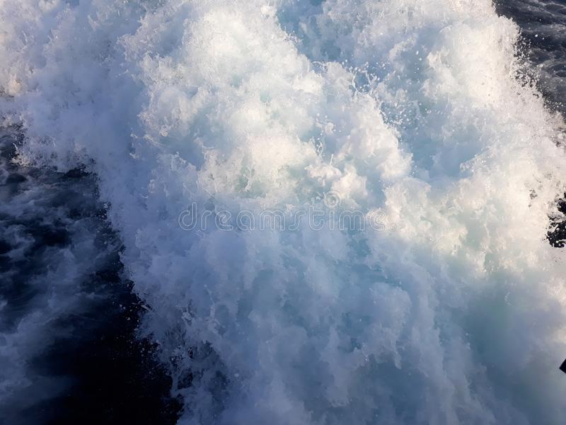 Пенообразное ionian море Греция стоковое фото rf