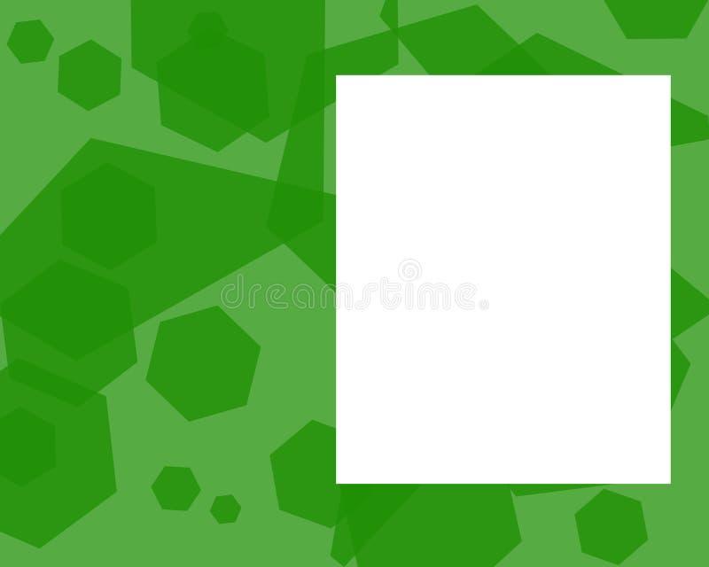 пентагон рамки зеленый Стоковое Изображение RF