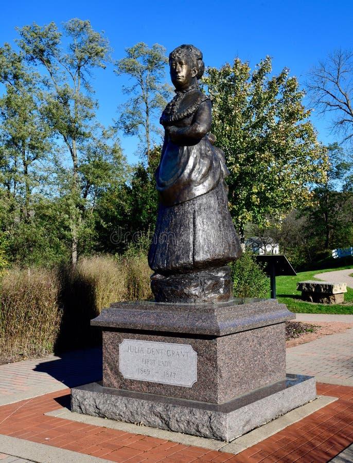 Первая дама Джулия Вдавленное место Grant стоковые изображения