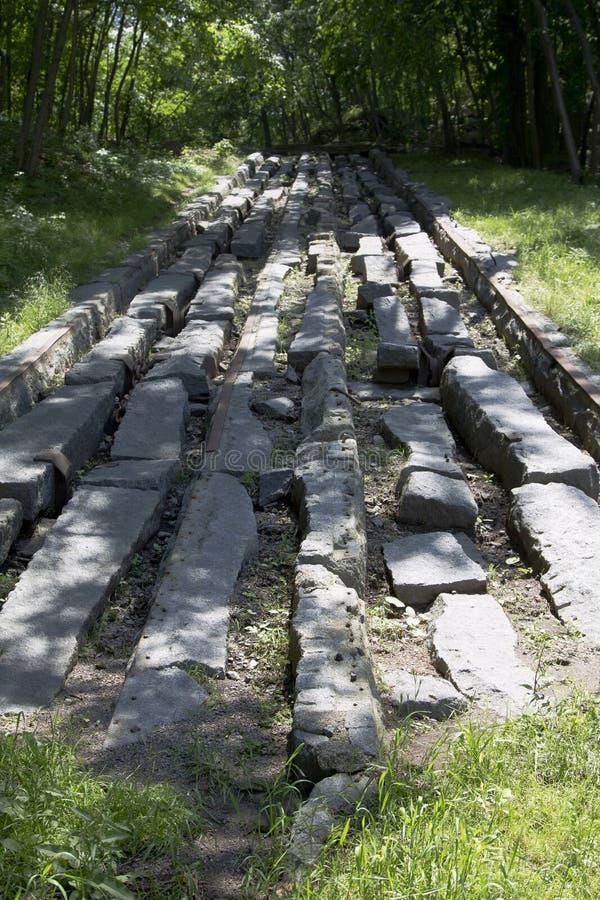 Первая железная дорога в Америке стоковое изображение