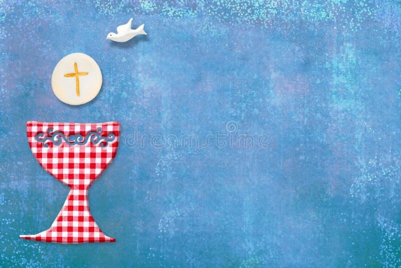 Первая карточка приглашения святого причастия бесплатная иллюстрация