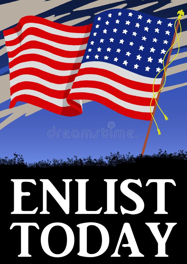 Первая мировой войны стиля США плакат винтажной военный иллюстрация штока