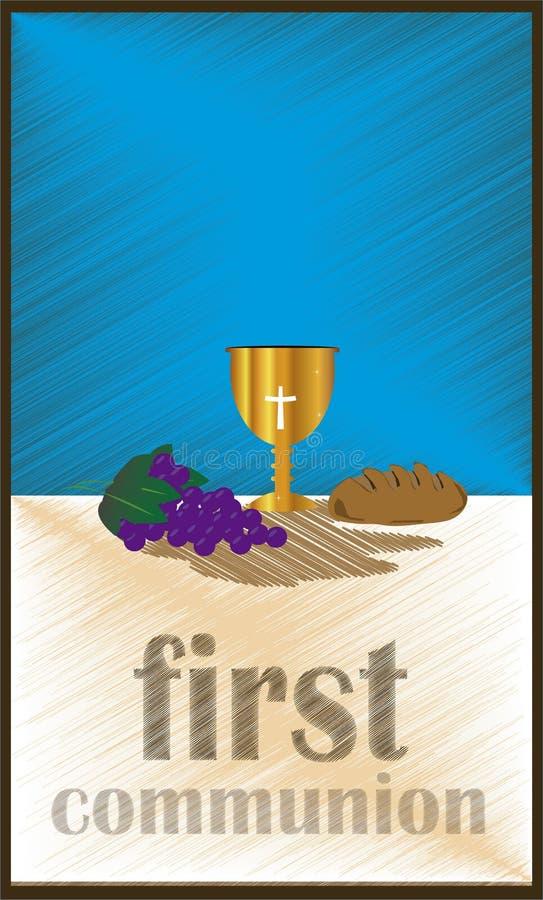 Первая общность, или первое святое причастие бесплатная иллюстрация