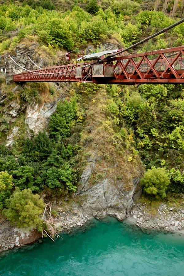 Первая скачка bungee стоковое изображение