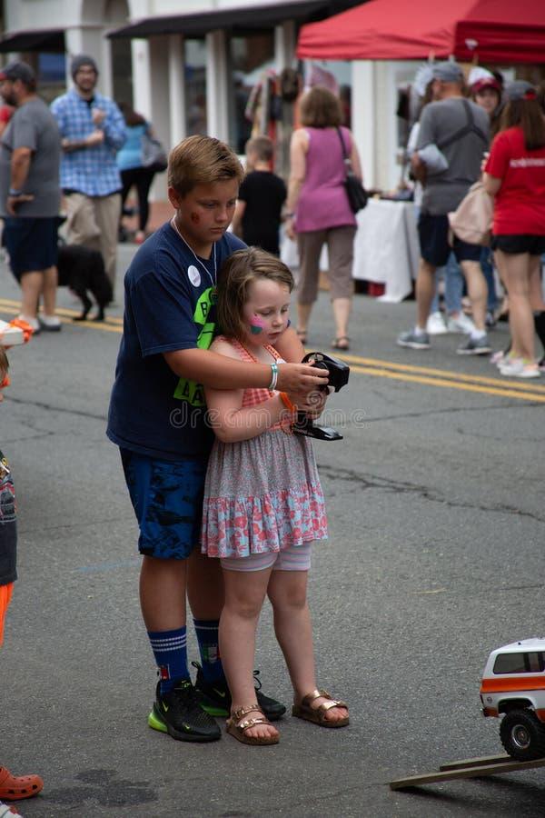 Первая суббота 7-ое июнь Warrenton Вирджиния стоковая фотография