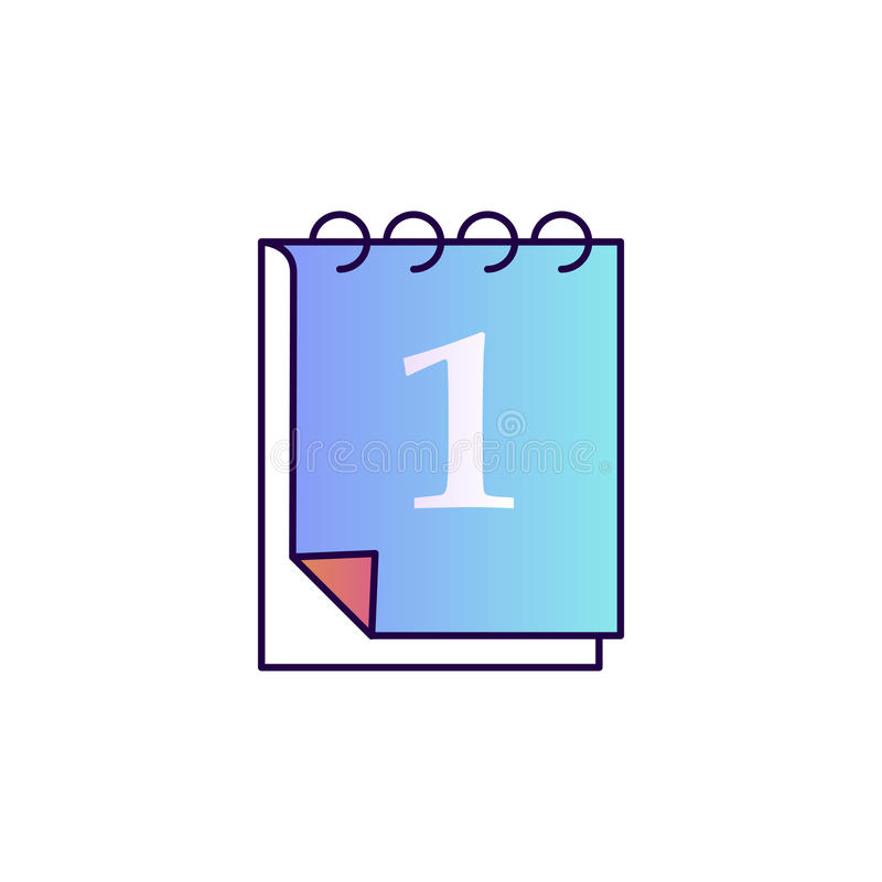 Первое -го сентябрь на календаре задняя школа к бесплатная иллюстрация