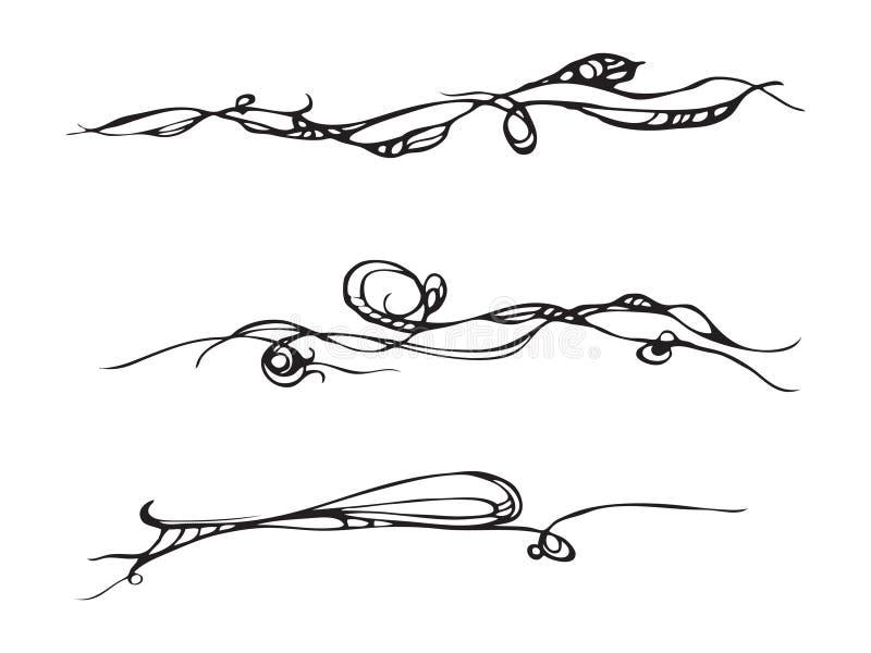 первоклассный декоративный орнамент иллюстрация вектора