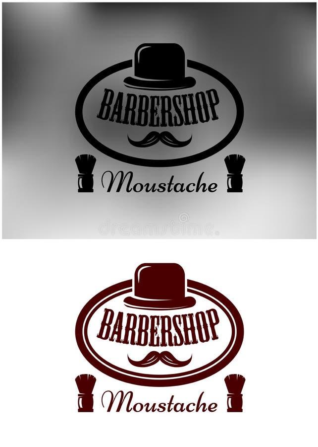 Первоклассные значок, эмблема или ярлык парикмахерской бесплатная иллюстрация