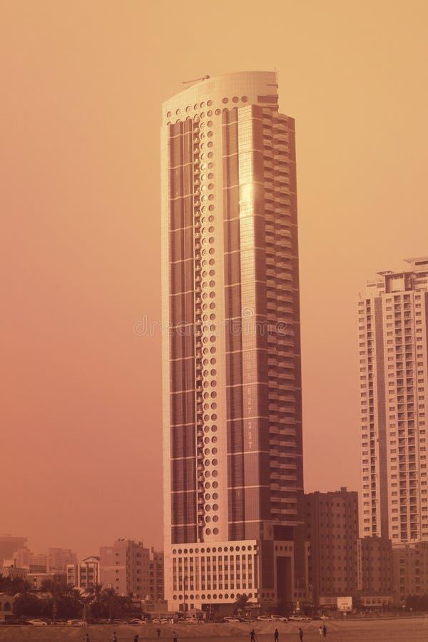 Первоклассные современные здания Дубай, ОАЭ 21-ое июля 2017 стоковое фото rf