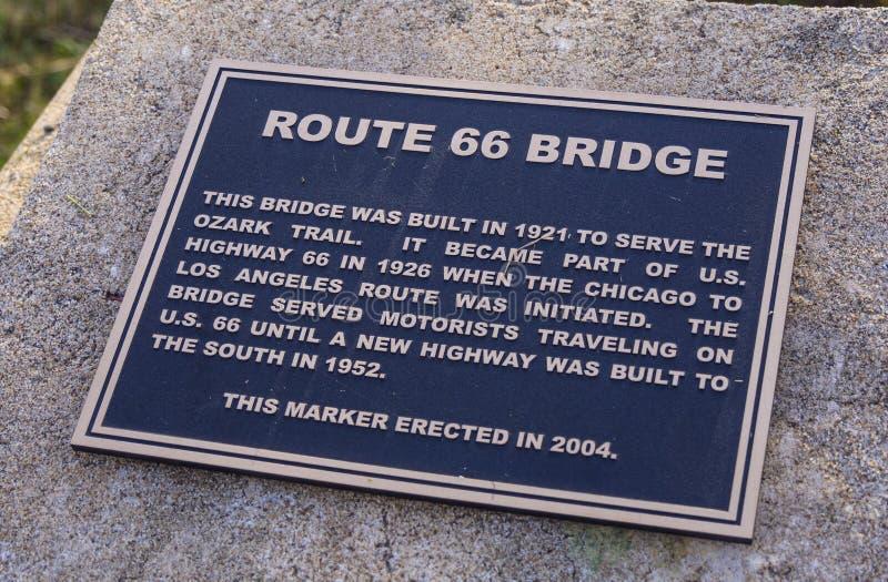 Первоначально мост трассы 66 от 1921 в Оклахоме - JENKS - ОКЛАХОМА - 24-ое октября 2017 стоковое фото