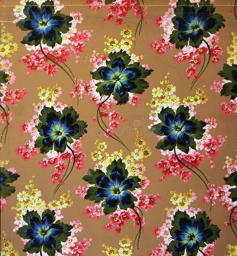 Первоначально орнамент текстильной ткани Глиняный кувшин покрашенный вручную с гуашью иллюстрация вектора